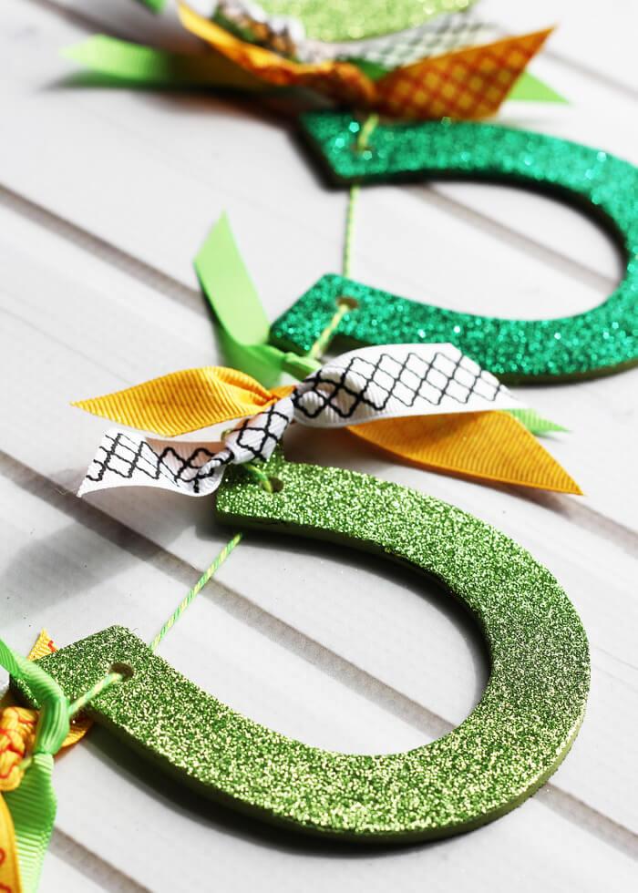 Glitter Horseshoe Garland for St. Patrick's Day