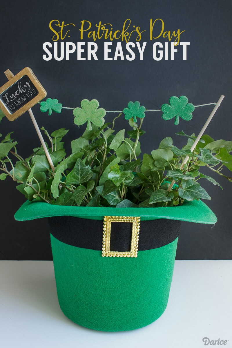 St. Patrick's Day Hat Planter