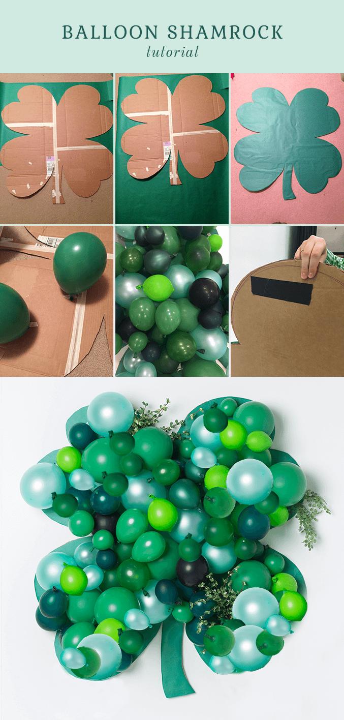 Super Easy DIY Balloon Shamrock