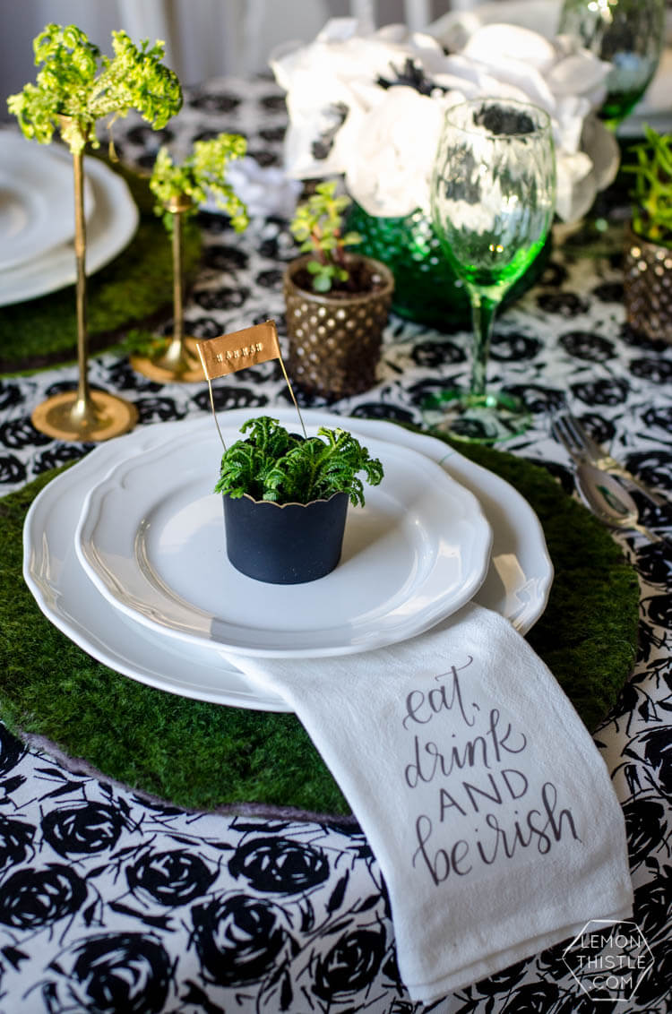 Eat Drink and Be Irish Table Setting