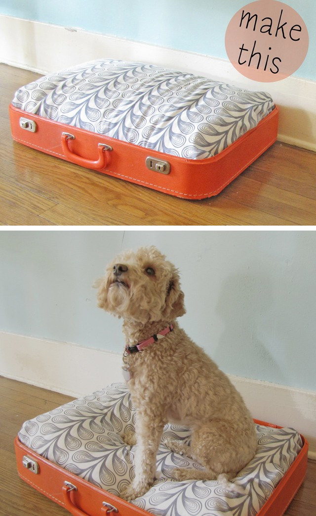Upcycled Suitcase Bed for the Jet-setting Pet