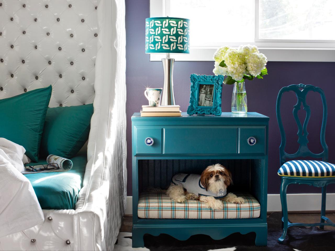 Updated Nightstand With Built-in DIY Pet Bed
