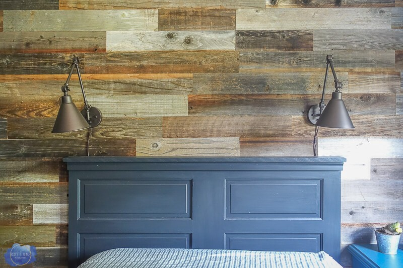 DIY Headboard from Old Wooden Door