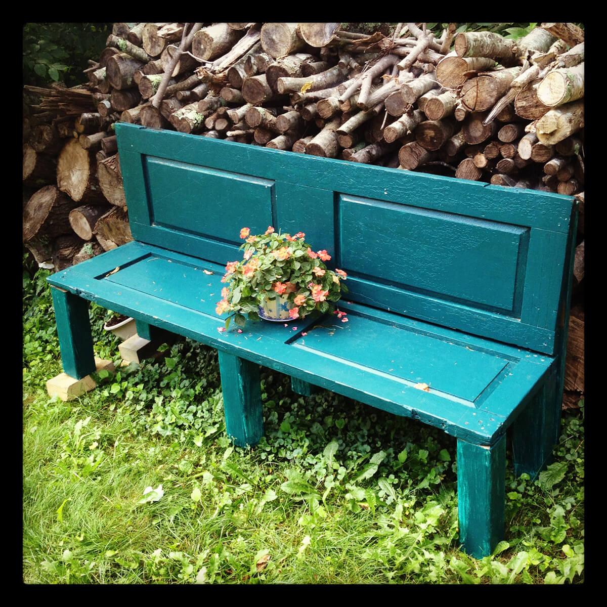 Upcycled Wooden Door Bench DIY