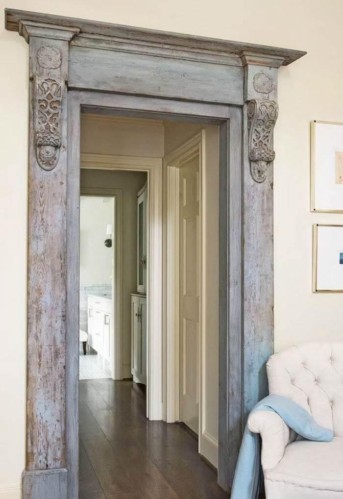 Ornate Victorian Mill Work Door Frame