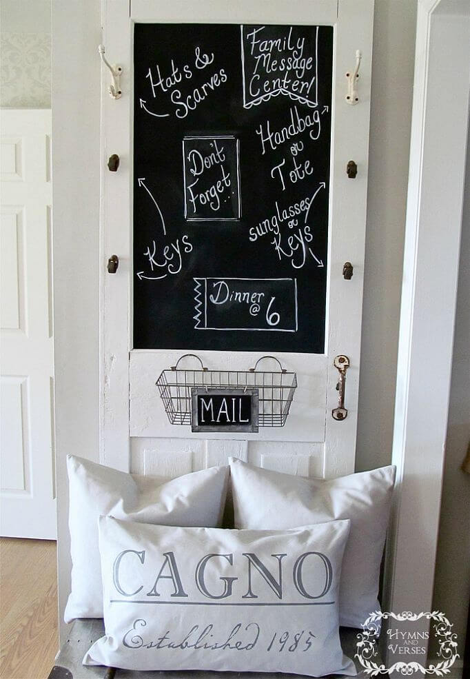 Old-Fashioned Classroom Door Message Center