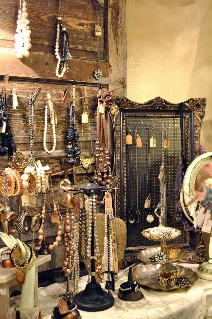 Shabby Chic Barn Door Jewelry Stand
