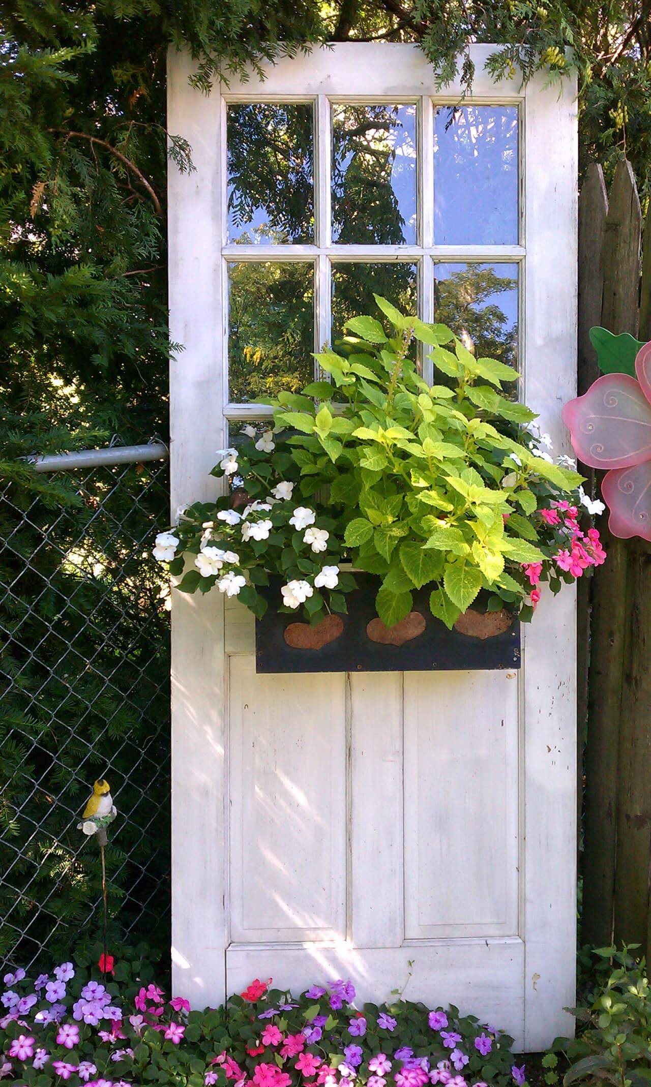 Freestanding Garden Door Window Box
