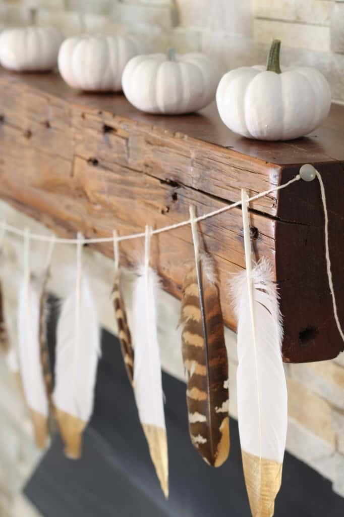 Touch of Gold Feather Garland