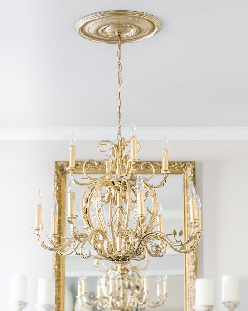 Elegant Gold Chandelier Center Piece